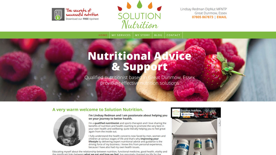 Solution Nutrition Screenshot